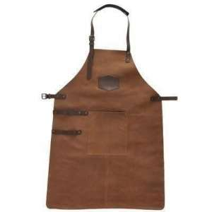 Hide & stitches barbecue grill schort cognac