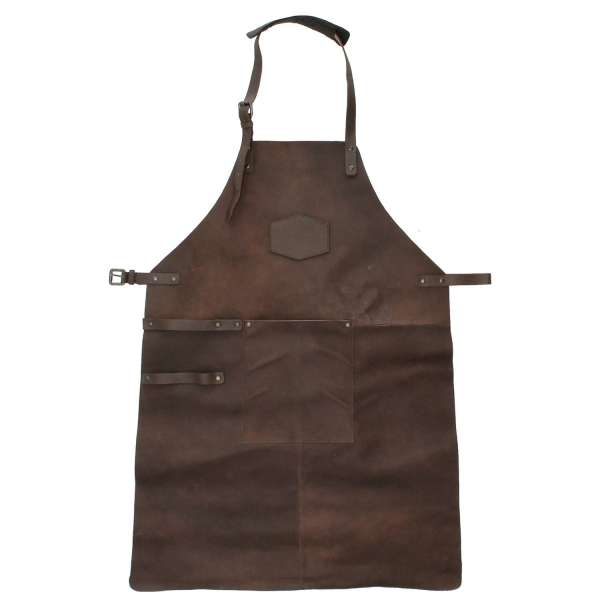 Hide & stitches barbecue grill schort donkerbruin