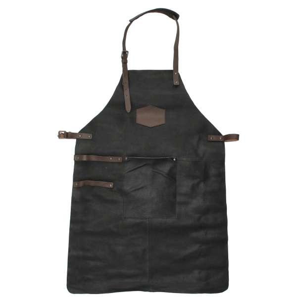 Hide & stitches barbecue grill schort zwart